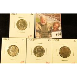(4) Jefferson Nickels, 1982PD, 1983PD, all BU, these are TOUGH in BU, no Mint Sets were produced in