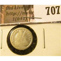 1852-O Seated Liberty Half Dime, G, value $30