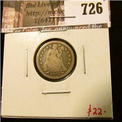 1853 arrows Seated Liberty Dime, VG, value $22