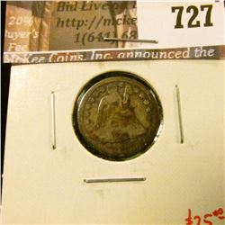 1853-O arrows Seated Liberty Dime, G dark, value $25