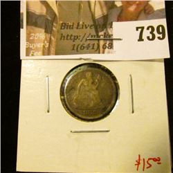 1878 Seated Liberty Dime, G, value $15