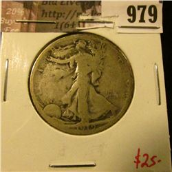 979 . 1919 Walking Liberty Half Dollar, G, value $25