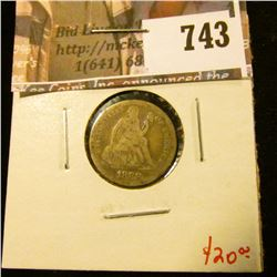 1888 Seated Liberty Dime, F, value $20