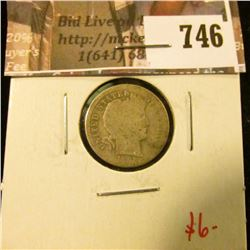 1892-O Barber Dime, AG obverse, G reverse, value $6