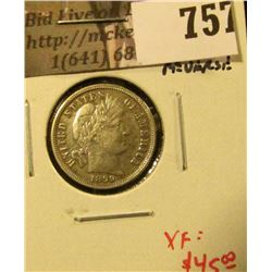 1899-S Barber Dime, XF, odd metal reverse, XF value $45