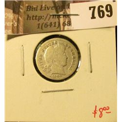 1909-D Barber Dime, better date, G, value $8