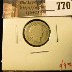1909-S Barber Dime, G, better date, value $9