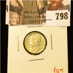 1939 Mercury Dime, BU, value $12