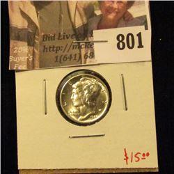 1940-S Mercury Dime, BU MS63+, Value $15