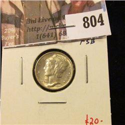 1941-D Mercury Dime, MS64+ Full Split Bands, value $20