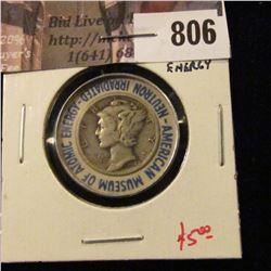 1942 Mercury Dime, encased and Neutron Irradiated – Museum of Atomic Energy, value $5