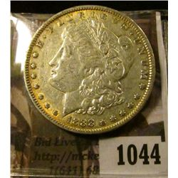 1044 . 1888 Morgan Silver Dollar, XF, light peripheral toning, valu