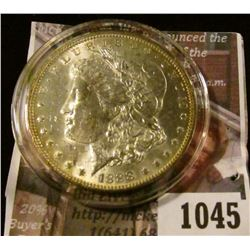 1045 . 1888-O Morgan Silver Dollar, BU, MS63+, MS63 value $75, MS64