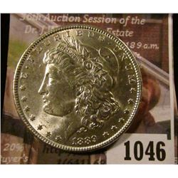 1046 . 1889 Morgan Silver Dollar, BU, MS63 value $70, MS64 value $9
