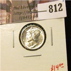 1943 Mercury Dime, BU MS64+, nice! value $14