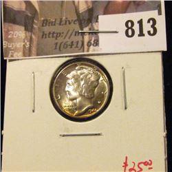 1944 Mercury Dime, BU toned, SCREAMER! value $25+