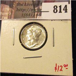 1945 Mercury Dime, BU MS64+, nice! value $12