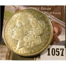 1057 . 1921-D Morgan Silver Dollar, AU, value $35