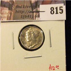 1945-D Mercury Dime, BU, value $12