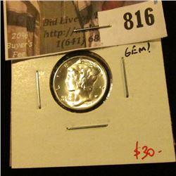 1945-S Mercury Dime, BU MS65+ PRISTINE FIELDS, GEM! value $30+