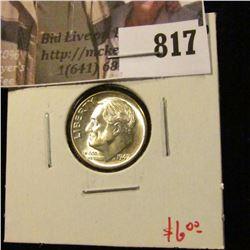 1947 Roosevelt Dime, BU, value $6