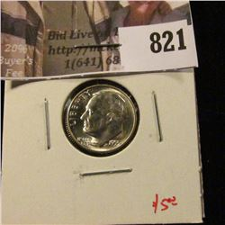 1955-S Roosevelt Dime, BU, value $5