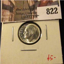 1957 Roosevelt Dime, BU, MS64+, nice, value $5