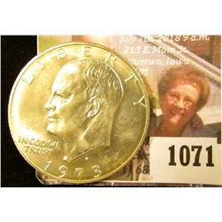 1071 . 1973-S Eisenhower Dollar, BU, 40% Silver, MS63 value $14+, M