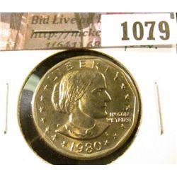 1079 . 1980-P Susan B. Anthony Dollar, BU toned, value $5+