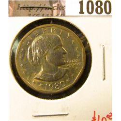 1080 . 1980-S Susan B. Anthony Dollar, BU toned, value $10+