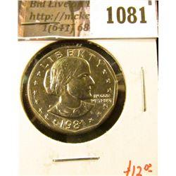 1081 . 1981-P Susan B. Anthony Dollar,, BU, value $12+