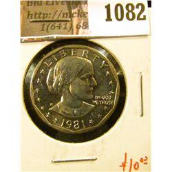 1082 . 1981-D Susan B. Anthony Dollar, BU, value $10+