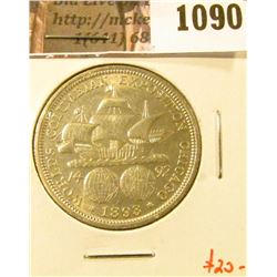 1090 . 1893 Columbian Exposition Commemorative Half Dollar, AU+, va