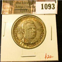 1093 . 1946 Booker T. Washington Commemorative Half Dollar, AU tone