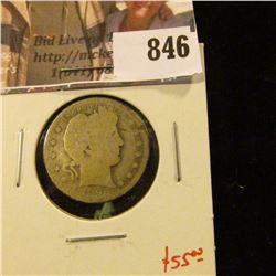 1896-O Barber Quarter, G, tougher date, value $55