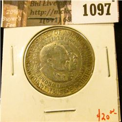 1097 . 1954-S Washington-Carver Commemorative Half Dollar, AU, valu