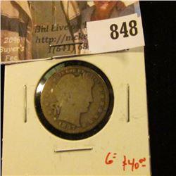 1897-O Barber Quarter, G obverse, AG reverse, better date, G value $40