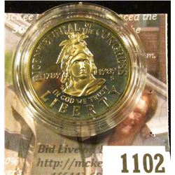 1102 . 1989-S Congress Bicentennial Commemorative Half Dollar, Proo