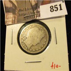 1898-S Barber Quarter, G obverse, AG reverse, value $10