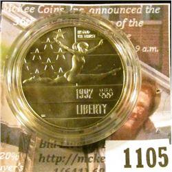 1105 . 1992-P XXV Olympiad / Gymnast Commemorative Half Dollar, BU