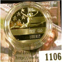 1106 . 1992-S XXV Olympiad / Gymnast Commemorative Half Dollar, Pro