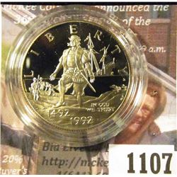 1107 . 1992-S Christopher Columbus Quincentenary Commemorative Half