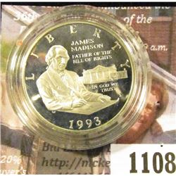 1108 . 1993-S Bill of Rights / James Madison 90% Silver Commemorati