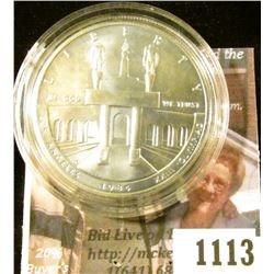 1113 . 1984-D Los Angeles Olympiad Commemorative Silver Dollar, BU