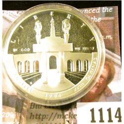 1114 . 1984-S Los Angeles Olympiad Commemorative Silver Dollar, Pro