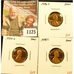1125 . (3) Proof Lincoln Memorial Cents, complete date run 1976-S t