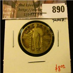 1929-S Standing Liberty Quarter, VG, value $8