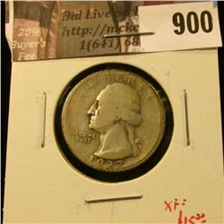 1937-D Washington Quarter, VG, XF value $15