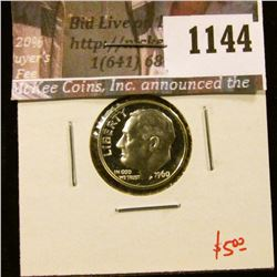 1144 . 1960 Proof Roosevelt Dime, value $5