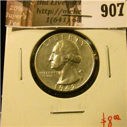 1942 Washington Quarter, AU, value $8